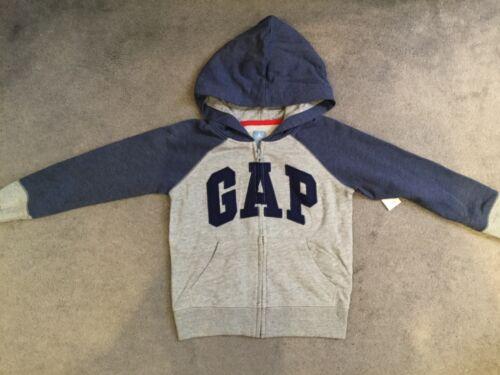 Gap-gris clair à capuche avec bleu gap logo à travers /& bleu manches et capuche-bnwt
