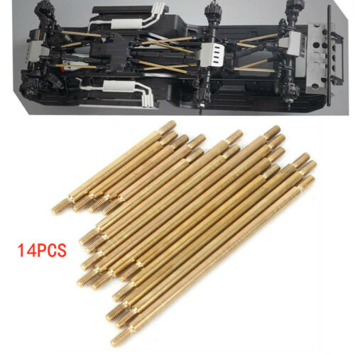 Details about  /14x//set Brass Chassis Link Rod Linkage For Traxxas TRX6 1//10 RC  Wheelbase Car