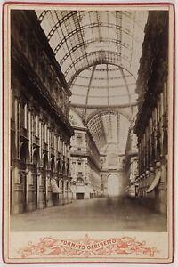 Milano Galleria Vittorio Emanuele II Italia Foto Vintage Albumina