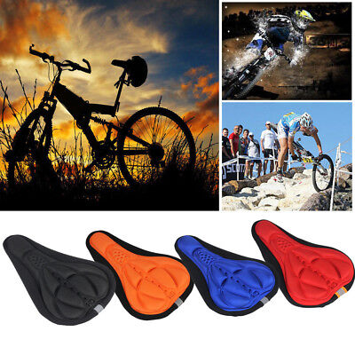 Silicone Bicycle Cycling Bike Saddle Breathable Gel Cushion Soft Pad Seat Cover