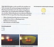 2 Nachtsicht-Gläser / 1.5/Kunststoff Super-Hart-Entspiegelung