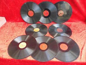 8 Alte Schellackplatten__grammophonpaltten__30cm__! Moderater Preis