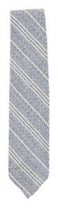 Finamore Napoli Light Blue Striped Cotton Blend Tie - x - (936)