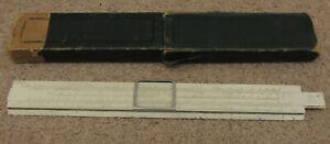 """Vintage P.I.C 12"""" long Slide Rule, engine divided"""