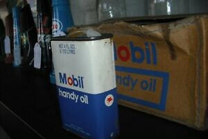 Mobil-Handy-Oil-Oiler-Tin-Can-NOS