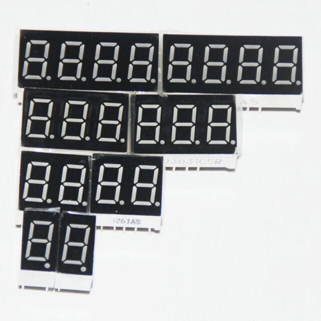"2pcs 5 inch 1 digit led display 7 seg segment Common anode 阳 green 5/"""
