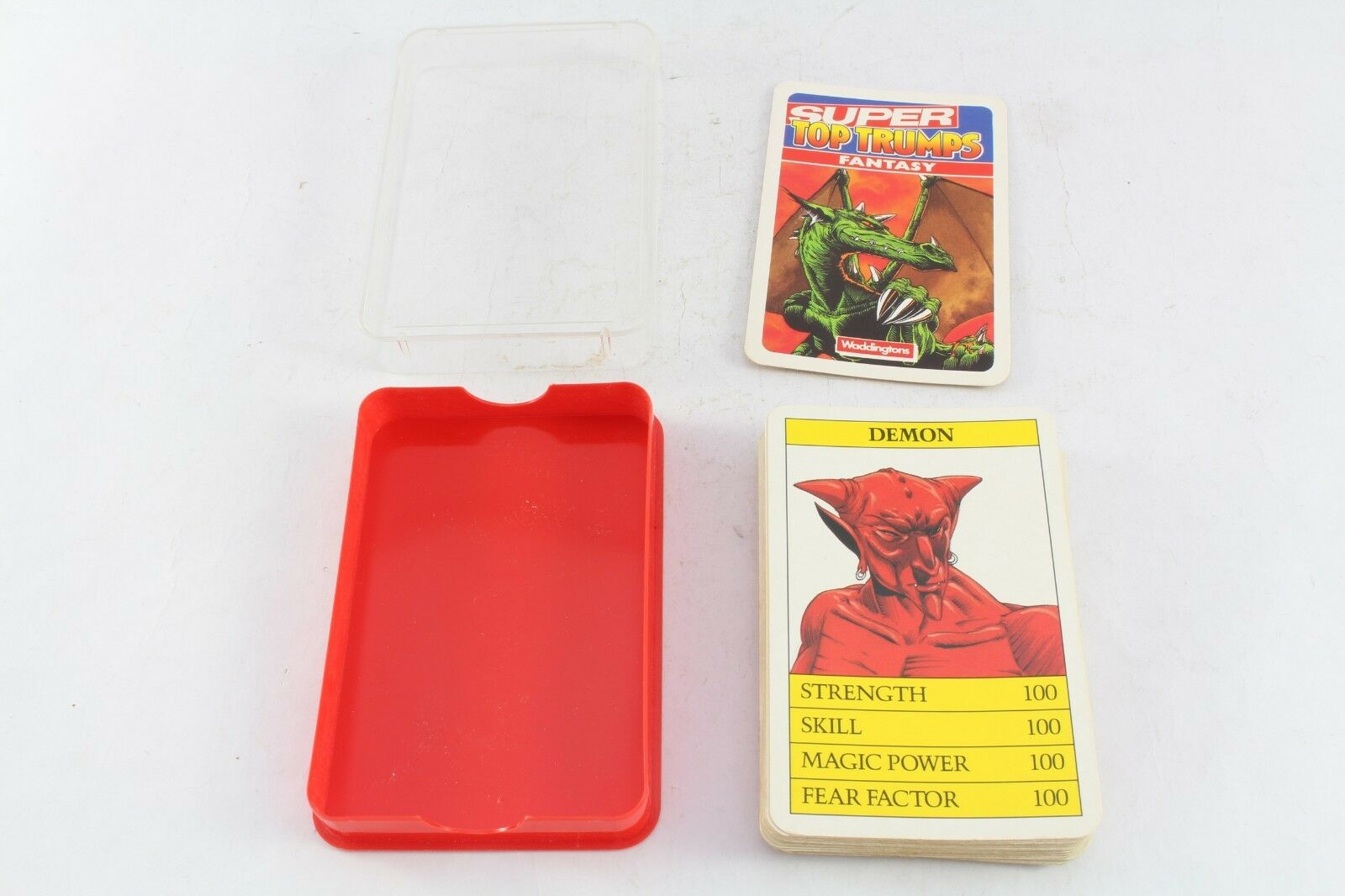 Top Trumps Waddingtons Fantasy Dragon Retro VINTAGE COMPLETO