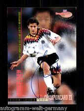 Heiko Herrlich Borussia Dortmund Panini Card EM 1996 TOP Orig. Sign. +A48175