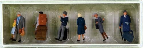 sur le quai accessoires Preiser 10513 6 personnages