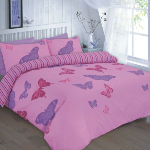 Printed Butterfly Duvet Cover Set With Pillowcases King Single Double Super Elsa