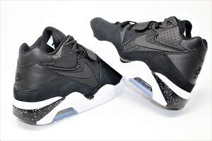 reputable site e75c2 07b20 La foto se está cargando Nike-Air-Force-180-Negro-Negro-Blanco-310095003-
