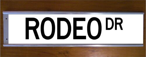 BEVERLY HILLS CALIFORNIA GIFT AMERICANA RODEO DR STREET SIGN ROAD BAR SIGN