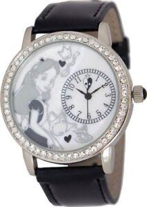 Authentic-Disney-Alice-In-Wonderland-Rhinestone-Accent-Leather-Watch-AL1000