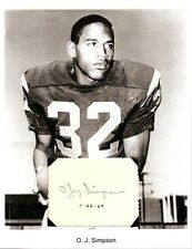 O.J. Simpson Autograph NFL Football Player USC Trojans Buffalo Bills SF 49ers #1