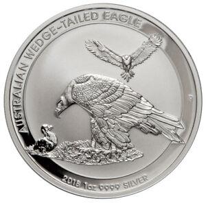 2018-P Australia 1 oz Silver Wedge-Tailed Eagle $1 GEM BU Coin SKU52642