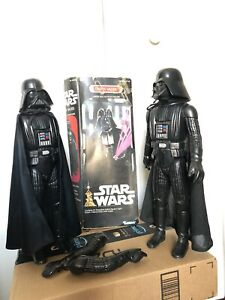 Star-Wars-Vintage-Large-Size-12-in-Kenner-Darth-Vader-Figure-Set-of-2-one-w-Box