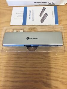 USB-C-Hub-Multiport-USB-C-Adapter-Aluminum-Thunderbolt-3-Type-C-Adapter-Dongle