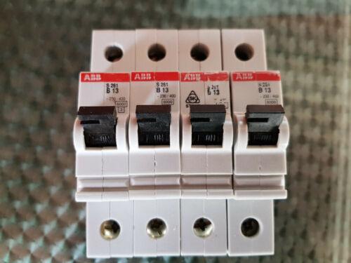 geprüft 4 Stück ABB Leitungsschutzschalter 1polig 13A Typ S261 Profiausführung