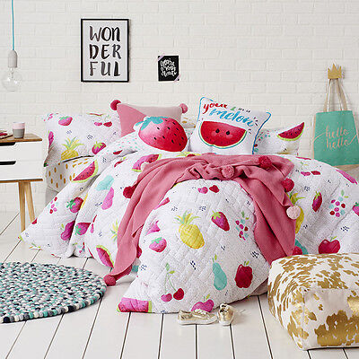Adairs Kids Mimi Quilted Multi Queen Quilt Cover Set  BNIP RRP $169.99