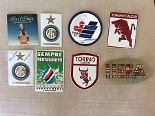 8 ADESIVI SQUADRE CALCIO SAMPDORIA U.E.F.A. TORINO PISA INTER INTERNAZIONALE   J