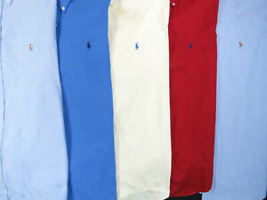 Lot-Of-5-Ralph-Lauren-Polo-Long-Sleeve-Button-Front-Shirts-Mens-17-XL-2-NWOT
