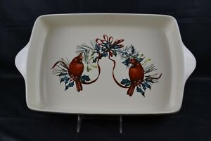 Lenox winter greetings square baking dish rectangular dish cardinals image is loading lenox winter greetings square baking dish rectangular dish m4hsunfo