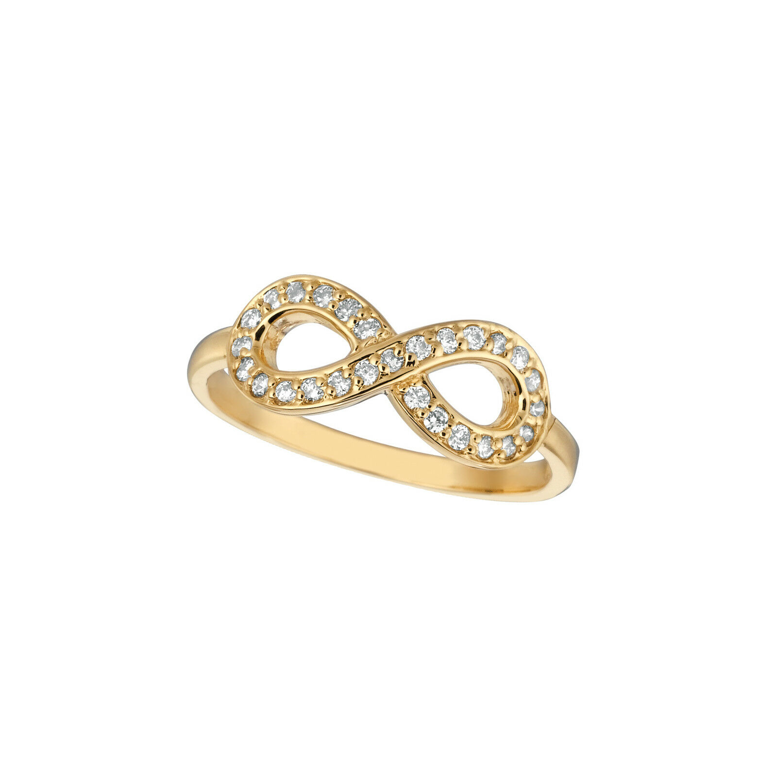 0.25 CT Diamond infinity ring Set In 14K Yellow gold IDJR6942.01YD