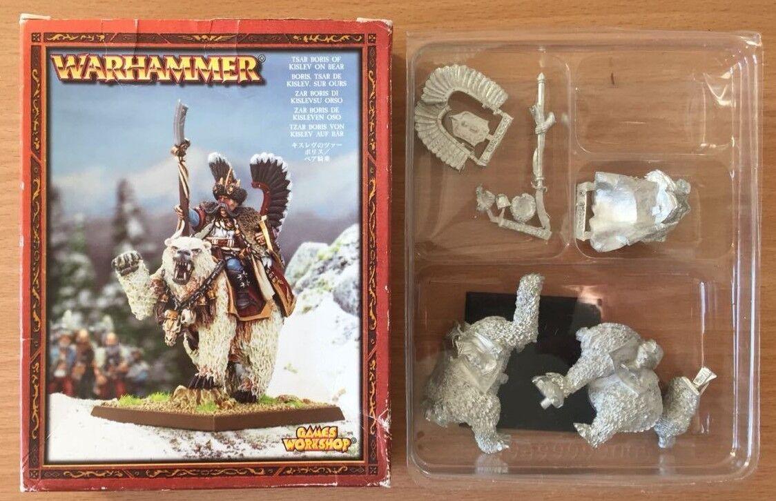 GW 2003 Warhammer zar Boris de Kislev en Oso Nuevo en Caja De Metal-Rápido Post