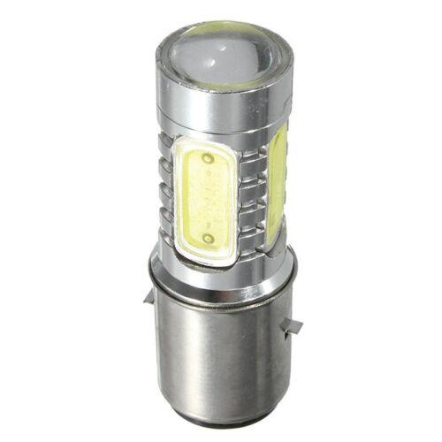 12V BA20D H6 4 COB LED White Bulb Light For Motorcycle Bike Moped ATV Headl J3G6
