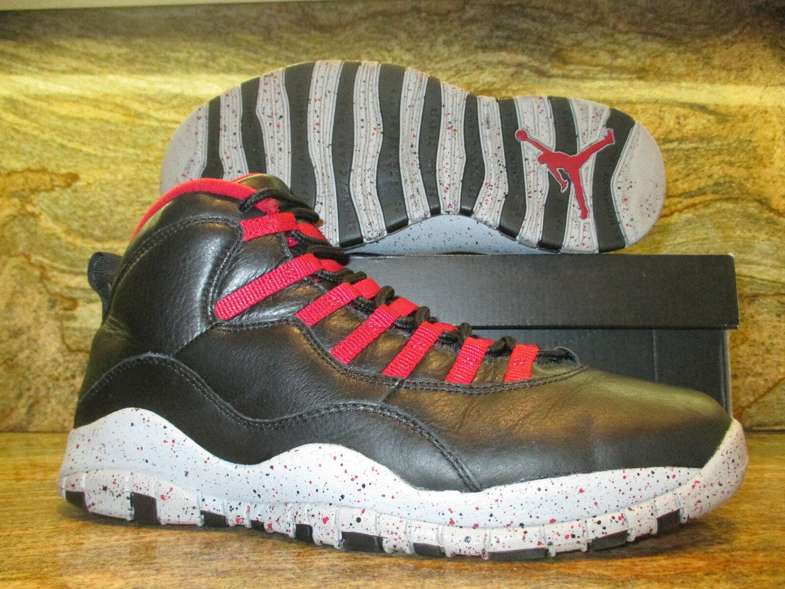 Nike Air Jordan 10 X Retro Promo Sample SZ 10.5 PSNY Black Public School FNF PE
