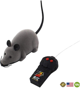 Elaco RC Funny Wireless Electronic Remote Control Mouse Rat Pet Toy for Cats Dog