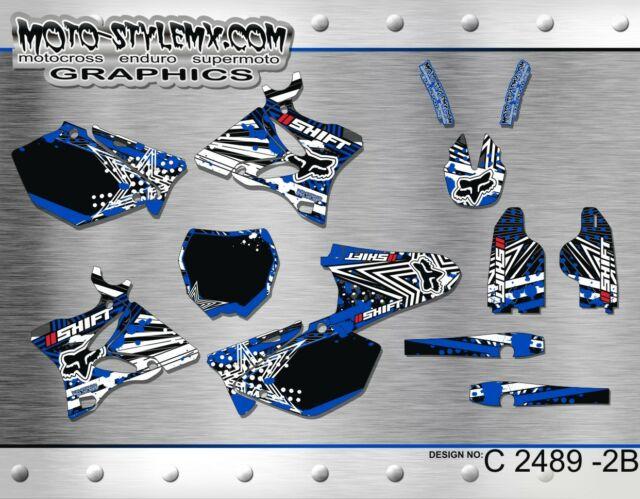 Yamaha YZ 125 250 2002 up to 2014 graphics decals kit Moto StyleMX