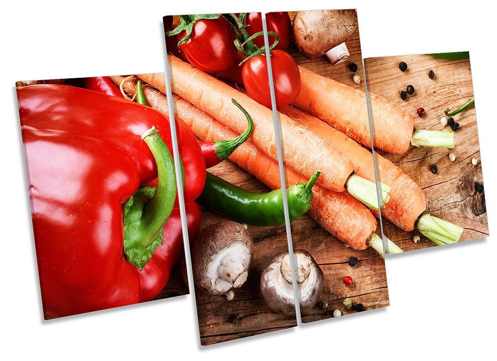 CArossoE verdure fresche art. a muro FOTO GRUPPO di quattro