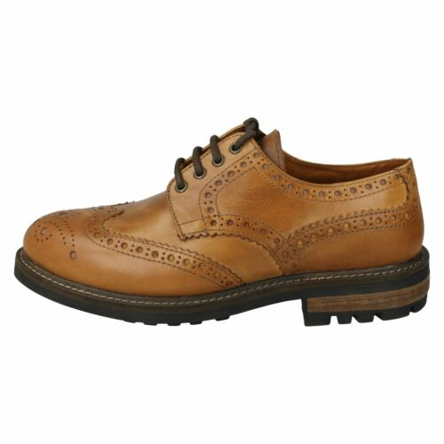 BRACKEN CLASSIC RED TAPE MENS SMART BROGUES TAN FORMAL LACE UP LEATHER SHOES