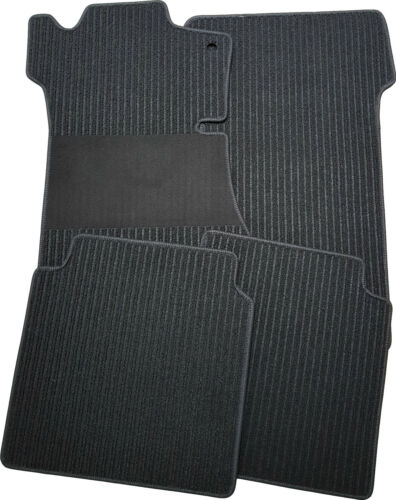 Für Mercedes S-Klasse W140 SEL 3.91-8.98 Fußmatten Rips schwarz mit Trittschutz