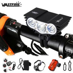 ricaricabile-6000LM-3xXML-U2-LED-Luce-Bicicletta-Frontale-Lampada-faro-Bici-Luci