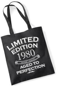 37. Geburtstagsgeschenk Tasche Einkaufstasche Limitierte Edition 1980