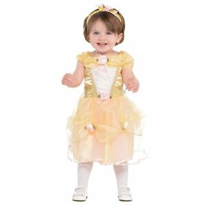 Disney-Princess-Belle-Beast-Deluxe-Gold-Gown-Dress-Gown-Baby-Fancy-Dress-Costume