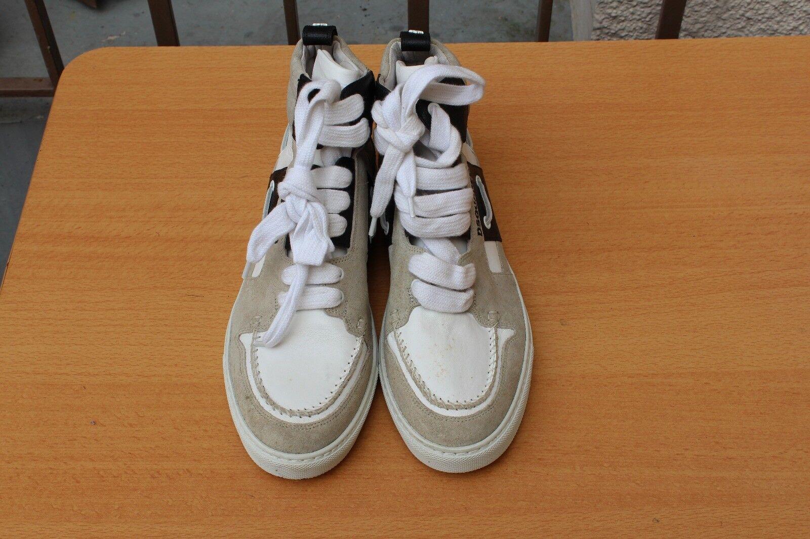 CHAUSSURE scarpe scarpe scarpe da ginnastica MONTANTE DSQUArosso CUIR 42 NEUF a203a4