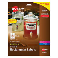 Avery Removable Rectangle Labels W/trueblock Technology 3 1/2 X 4 3/4 White 32 on sale