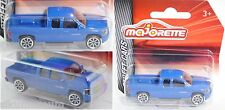 Majorette 212053051 Chevrolet Silverado Extended Cab blau 1:71 STREET CARS