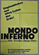 (P413) Orig. Kinoplakat MONDO INFERNO Alle Sünden dieser Welt