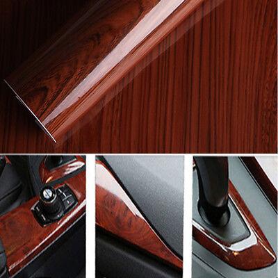 High Glossy Wood Grain Vinyl Sticker Decal Car Interior DIY Film Wrap 30*100cm