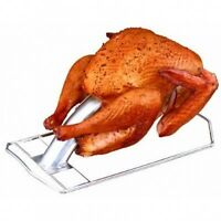 Duck Poultry Bird Oven Grills Rack Roasting Holder Barbecue Drainer Smoker Kit