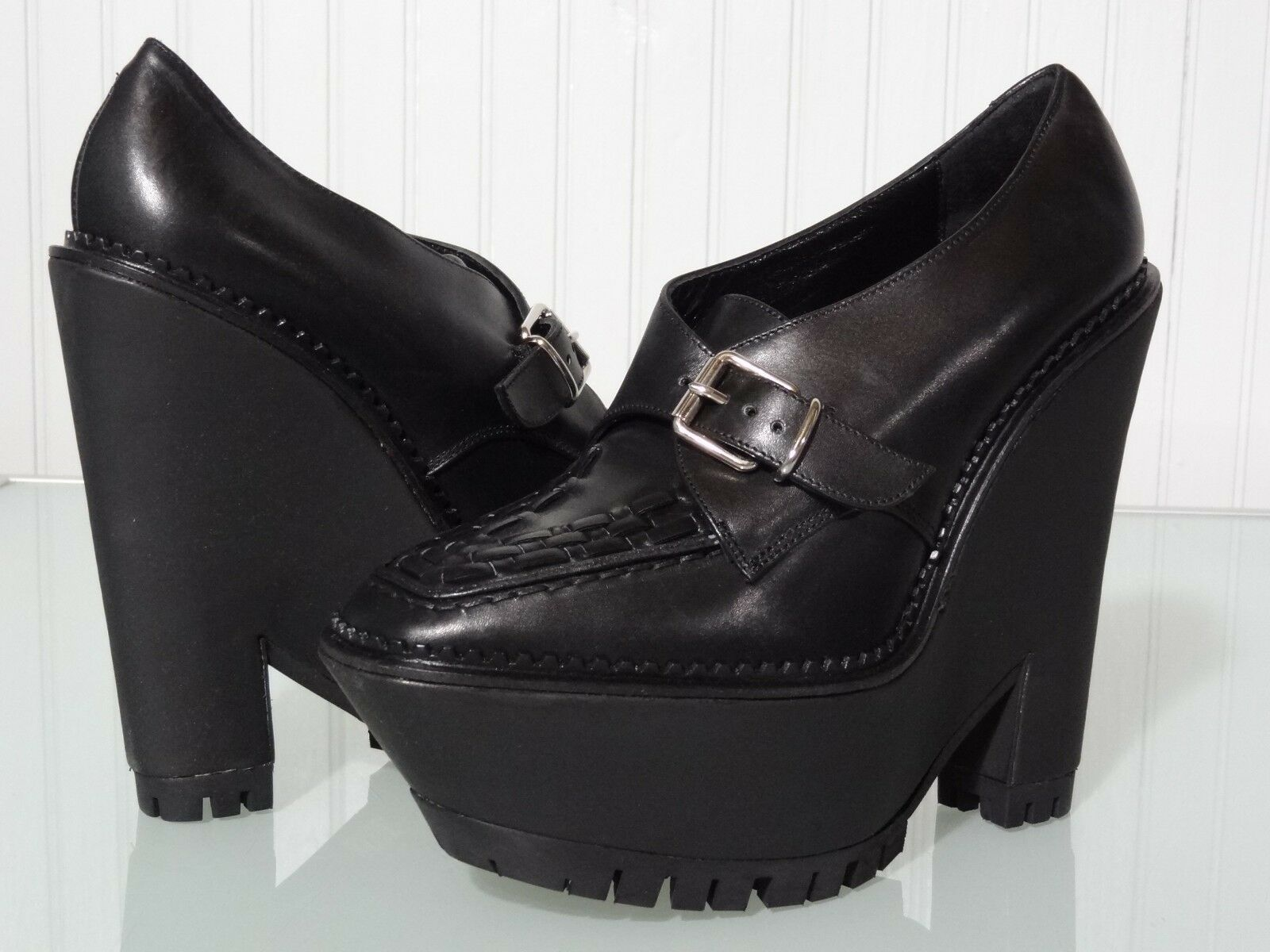 Nuevo En Caja  950 Para Mujer Burberry Prorsum Prorsum Prorsum Anglesey Cuña Monje zapatos Talla 8 9 nos Bota Negra  precios mas bajos
