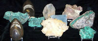 Dynamic Acrylic Display Stand Agate Slabs Geodes Fossils Crystals Relics 5ct