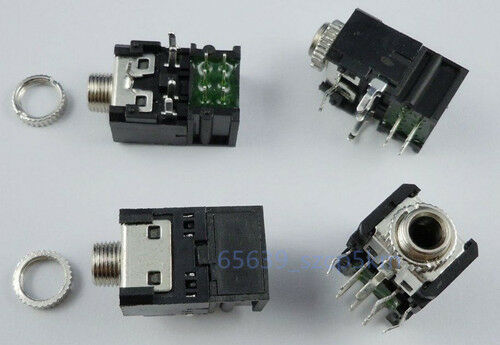 3-PCS-High-Quality-3-5mm-1-8-Audio-Stereo-Socket-PCB-Mount-PJ306BM