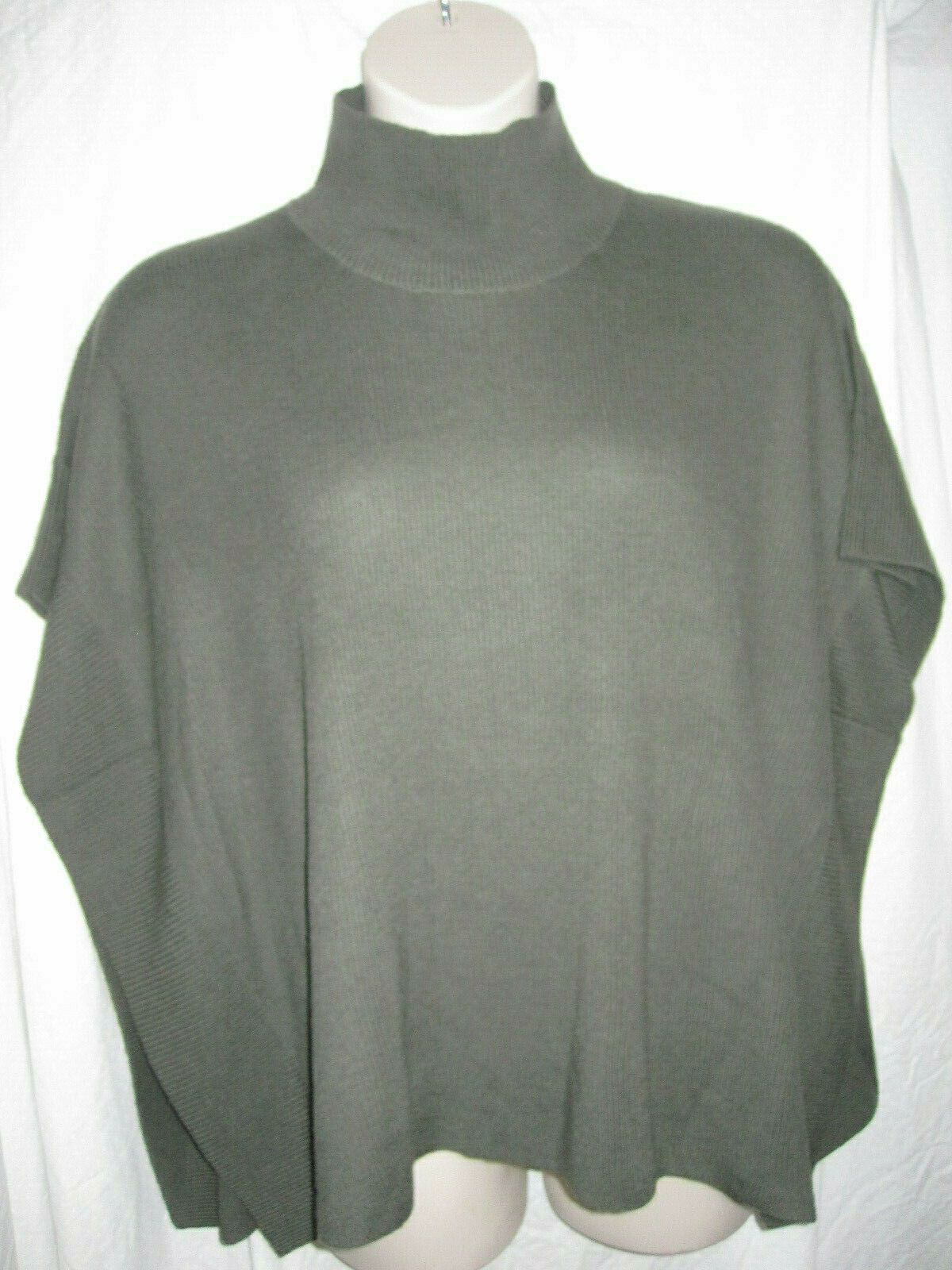 REPEAT Green Wool Cape Poncho type Sweater