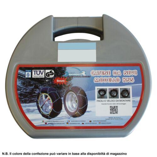 CATENE DA NEVE 9MM OMOLOGATE 215//55 R16 FORD FOCUS III 215//55-16 01//2011-