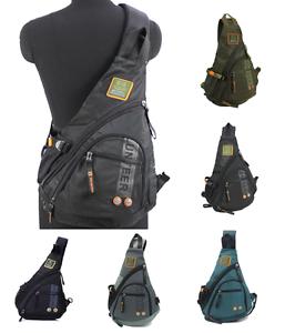 Men-039-s-Women-039-s-Sling-Messenger-Chest-Bag-Shoulder-Backpack-Travel-Oxford-student
